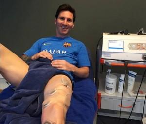 インディバアクティブを受けるFCバルセロナ メッシ選手