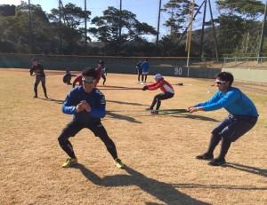 プロ野球自主トレーニング